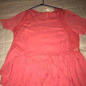 Tops - Coral tunic new with tags 2x plus size